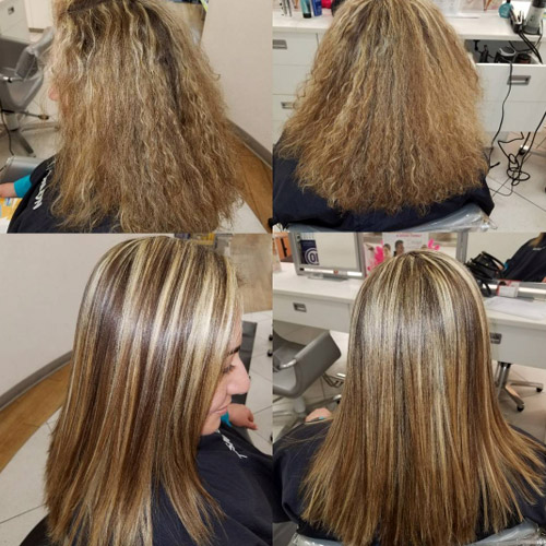 para alisar el cabello