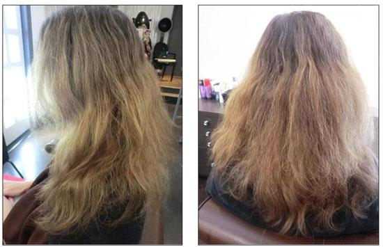 el botox para el pelo le salva el cabello a una madre