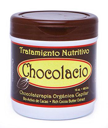 frasco de tratamiento de chocolate