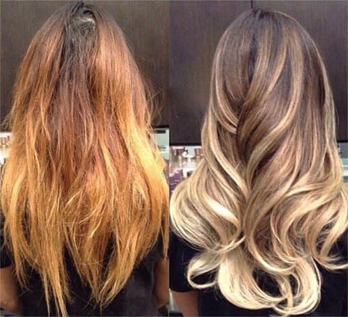 equilibra el tono del cabello