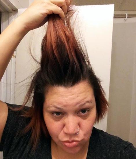 reparar el pelo quemado por la plancha