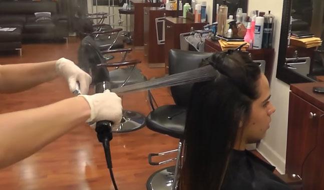 pelo lacio y brilloso