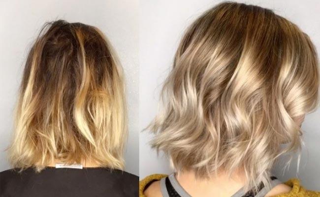 Mechas a peine y luego matizar peinado - Como matizar el pelo rubio en casa ...