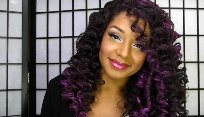 tonos purpuras, azules, morados