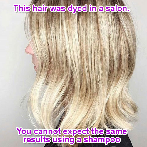 without using dye or other chemicals