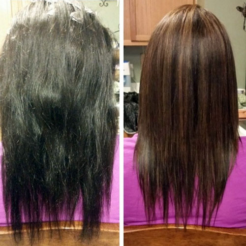 Intea Hair Lightening Before And After