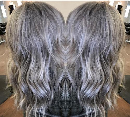 Como tenir el cabello de color gris