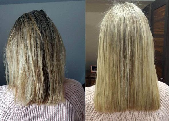 pelo liso por 2 meses y medio