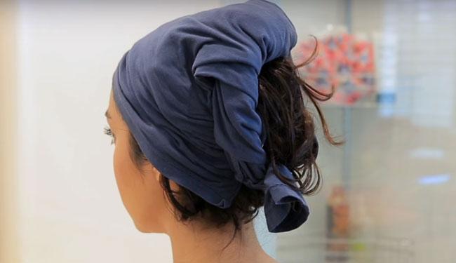 para que el cabello termina de secarse