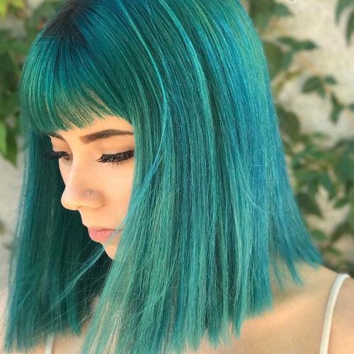 Cabello verde pastel