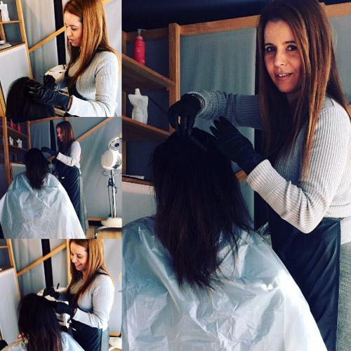 en una peluquería profesional
