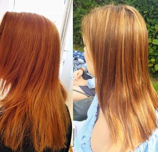 aclara el cabello algunos tonos