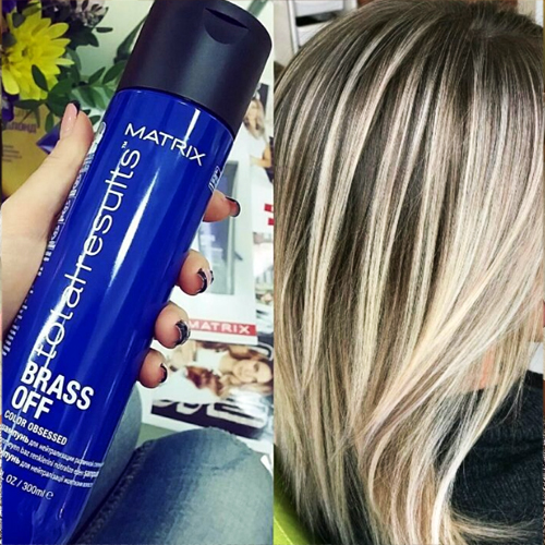 Blue Shampoo For Brassy Orange Hair Highlights Or Balayage Tips