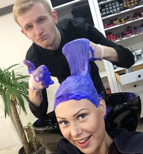 en una peluqueria