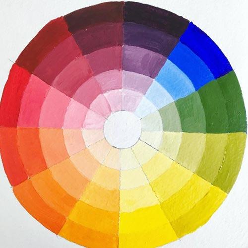 los colores enfrentados son complementarios