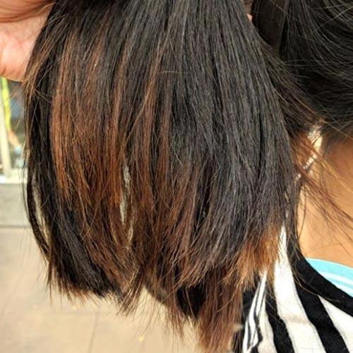 decoloracion retiro el negro del pelo