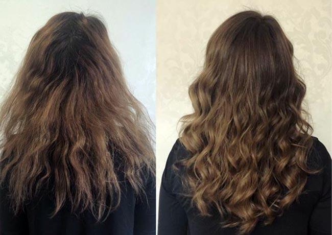 pelo brillante y voluminoso