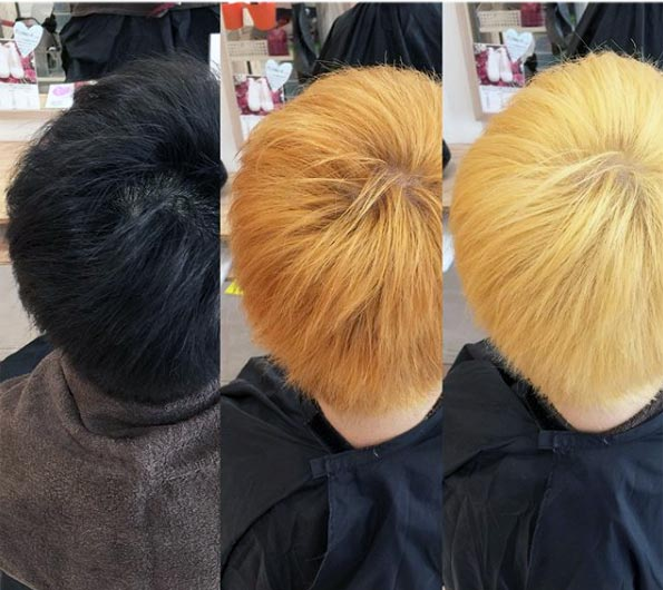 two bleaching sessions with 30 volume developer