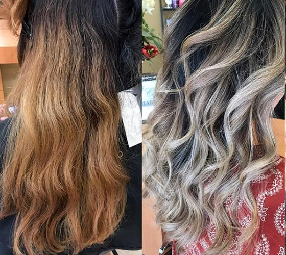 Will dark ash blonde cover orange brassy hair? Two ways of toning ...