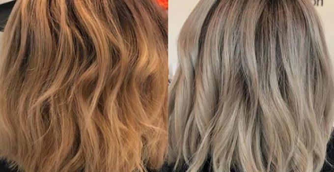 using hair toner