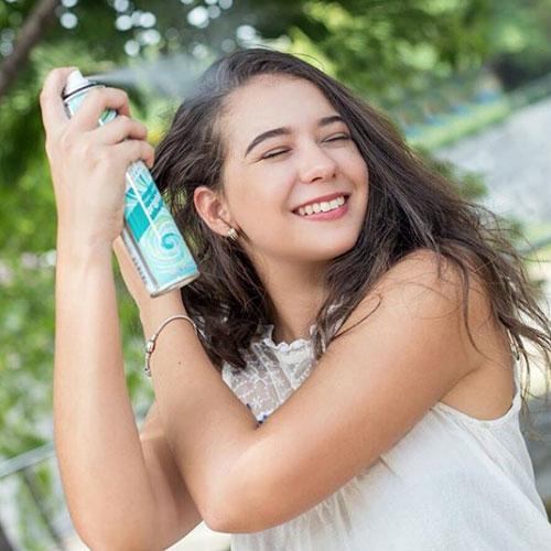 lavar el pelo sin agua