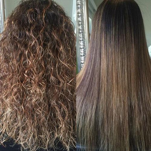 pelo sin frizz y mas facil de peinar