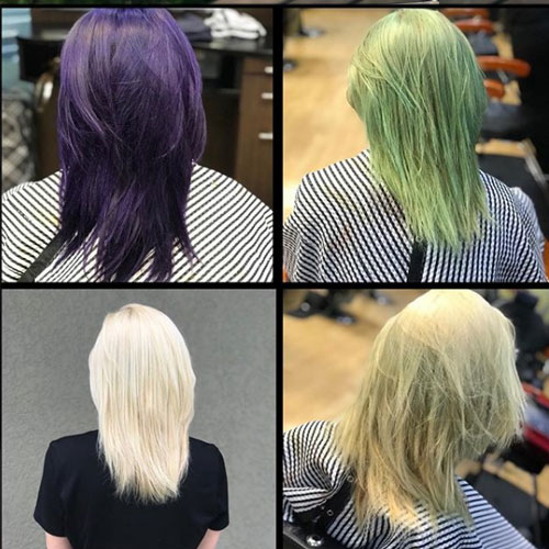 getting rid of violet with bleach