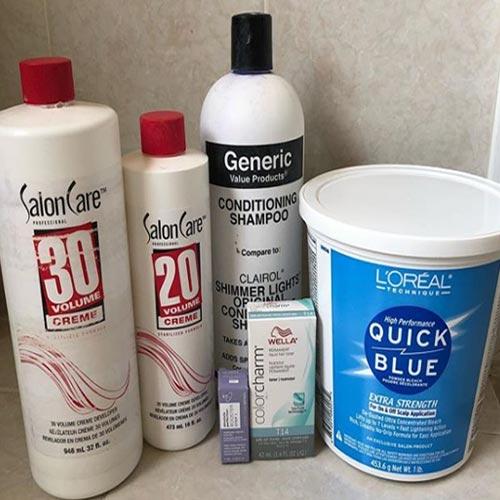 peroxido y polvo decolorante