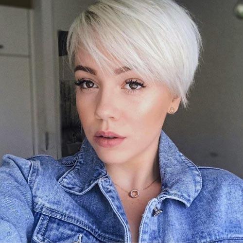 white bleached hair