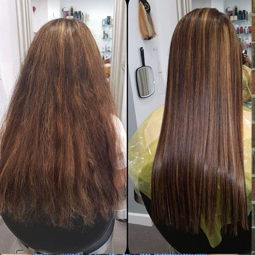 tratamiento profesional en peluqueria