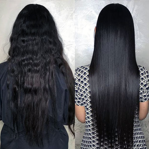 professional straightening treatment