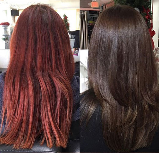 from red to brown
