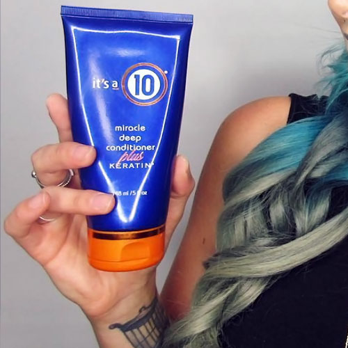 restores the elasticity of bleached hair