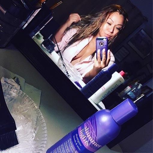 despues de lavar su cabello