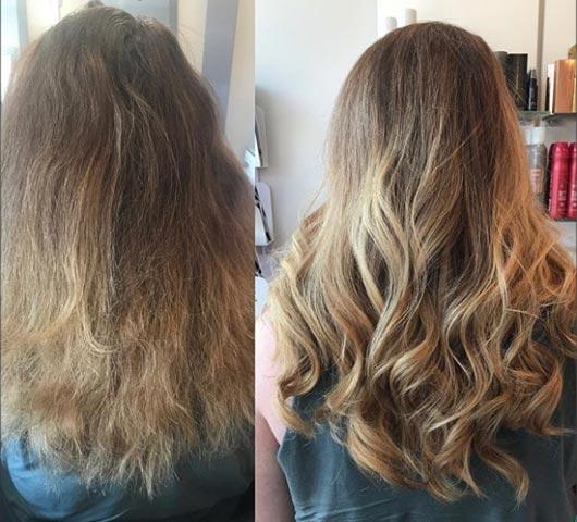 antes y despues de relaar el pelo