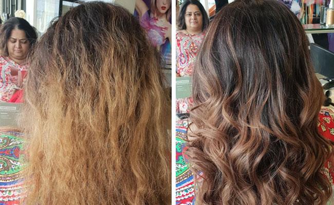 aplicación balayage pelo oscuro