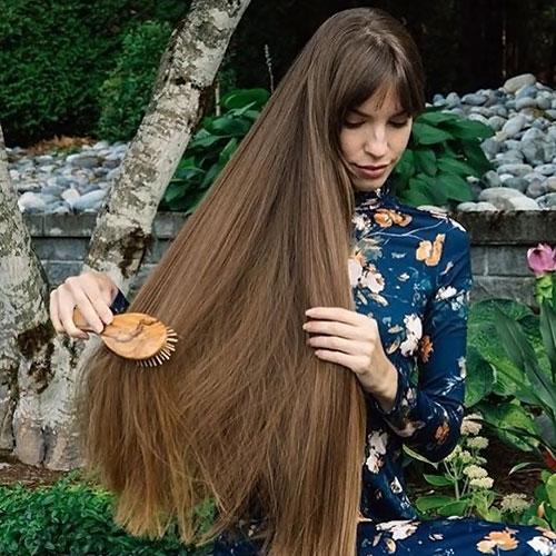 pelo largo y sin frizz