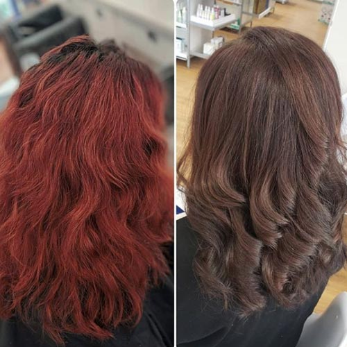 How To Cover Red Hair Dye With Brown