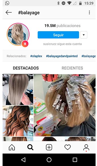 peluquerias para teñir el pelo