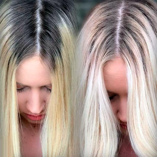 How To Blend Dark Roots With Blonde Hair At Home In 4 Easy Steps