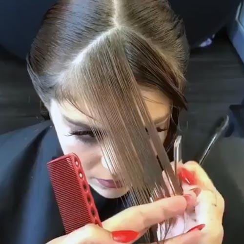para emparejar el pelo