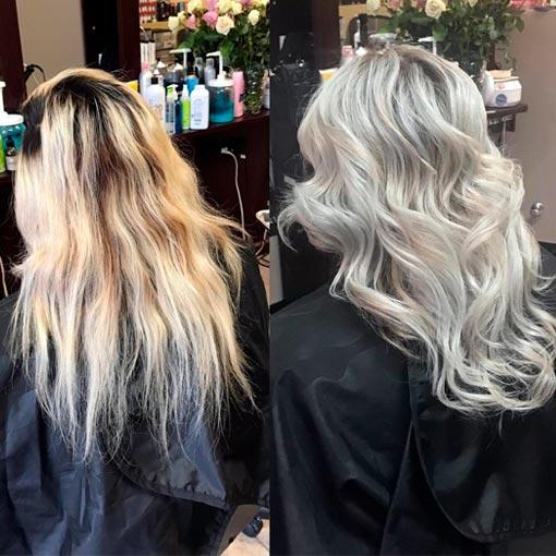 hair with light highlights
