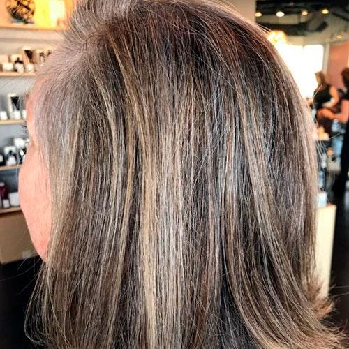 transición a pelo blanco
