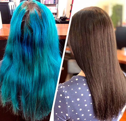 How To Dye Your Blue Hair Brown Without Damaging It In Only 4 Steps