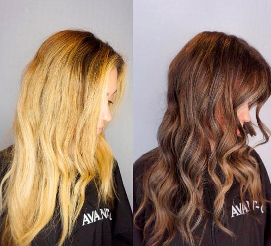 bajar el tono del pelo