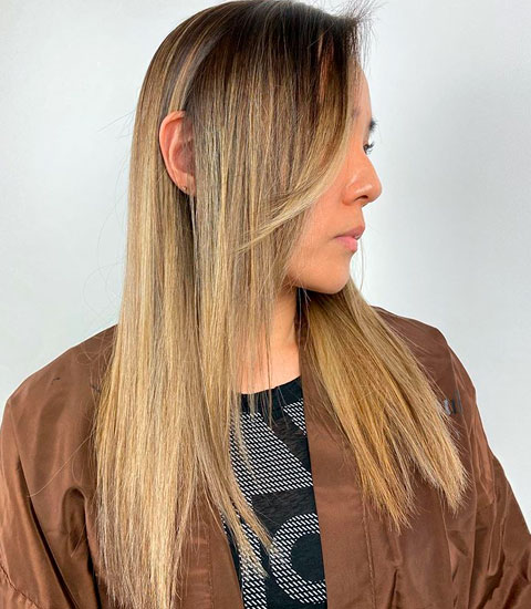 medium blonde tones