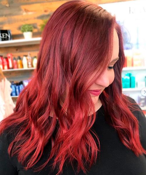 between hair colorings
