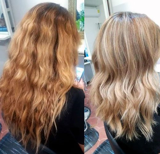 from orange to blonde