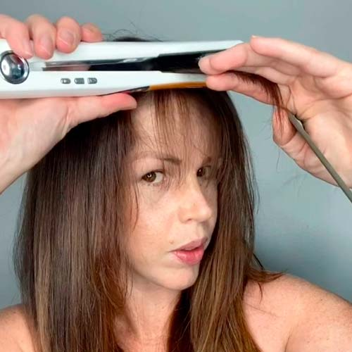 with flat iron