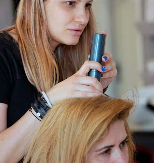 analizando el estado del cabello